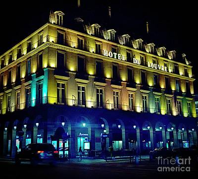Photograph - Hotel Du Louvre by Lilliana Mendez