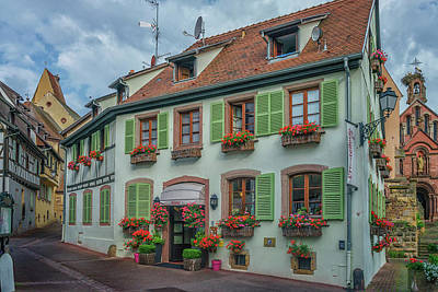 Photograph - Hotel Eguisheim Alsace France_dsc7212_16 by Greg Kluempers