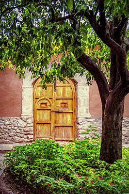 Photograph - Yellow Wooden Door by Maria Coulson