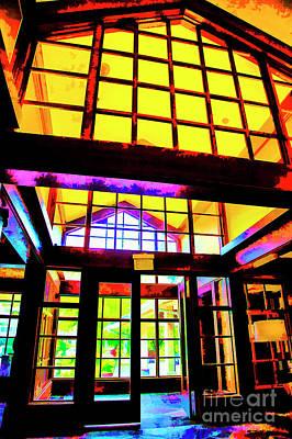 Digital Art - Hotel Entrance by Rick Bragan