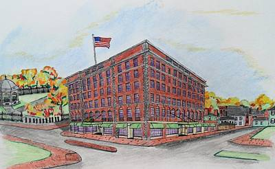 Drawing - Hotel Hawthorne Salem by Paul Meinerth