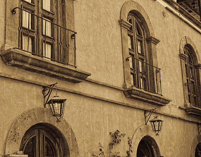 Photograph - Hotel In Loreto - Sepia by Marilyn Wilson
