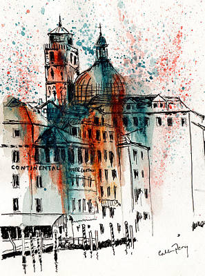 Hotel In Venice Art Print by Callan Percy