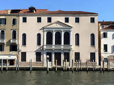 Photograph - Hotel In Venice On Canal by Doc Braham