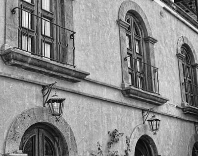 Photograph - Hotel In Loreto - Bw by Marilyn Wilson