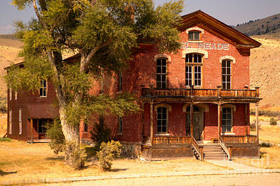 Bannack State Park Photograph - Hotel Meade by Adam Jewell