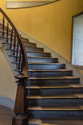 Photograph - Hotel Meade Staircase by Teresa Wilson