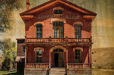 Bannack State Park Montana Photograph - Hotel Meade by Steven Bateson