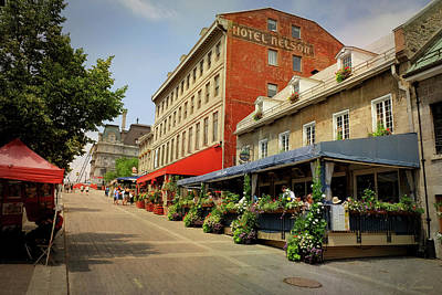 Old Montreal Photograph - Hotel Nelson - Place Jacques Cartier by Maria Angelica Maira