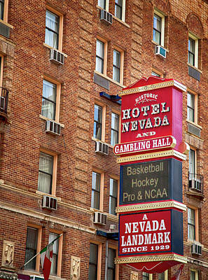 Photograph - Hotel Nevada And Gambling Hall by David Millenheft
