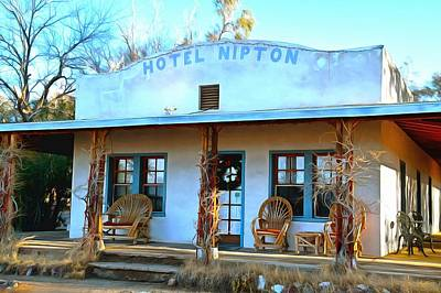 Photograph - Hotel Nipton Digital Painting by Floyd Snyder