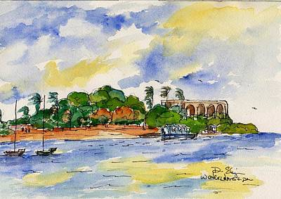 St. Croix Painting - Hotel On The Cay by Diane Elgin