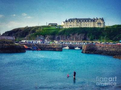 Photograph - Hotel On The Cliff At Portpatrick by Joan-Violet Stretch