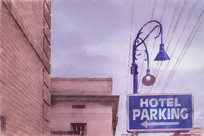 Beach House Signs - Hotel Parking by Jim Love