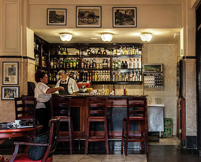 Photograph - Hotel Presidente Bar Havana Cuba by Charles Harden