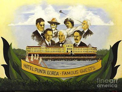 Punta Gorda Painting - Hotel Punta Gorda by Charles Peck