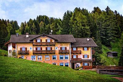 Photograph - Hotel Seelaus In Seiser Alm by Carolyn Derstine