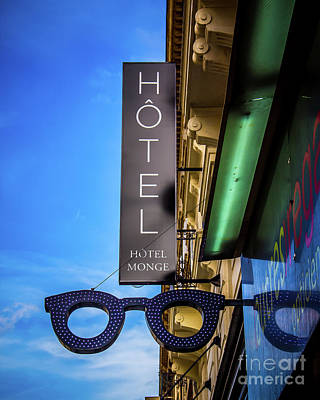 Photograph - Hotel Sign by Perry Webster