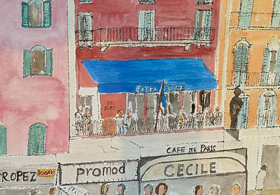 St.tropez Painting - Hotel Sube St Tropez 2012 by Bill White