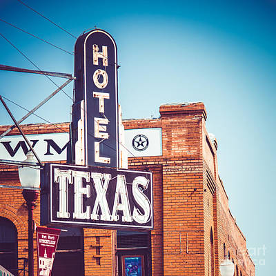 Cattle Drive Photograph - Hotel Texas by Sonja Quintero