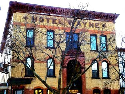 Photograph - Hotel Wayne Bistro - Honesdale Pa by Janine Riley