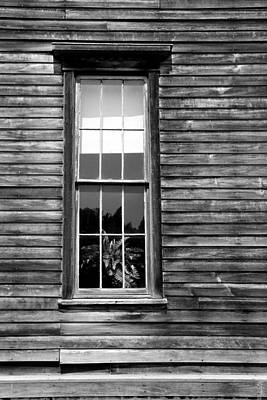 Photograph - Hotel Window Fayette State Park Bw by Mary Bedy