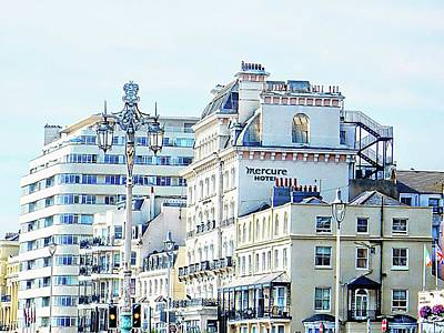 Photograph - Hotels Along The Promenade In Brighton by Dorothy Berry-Lound