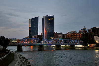 Hotels On The Grand River Art Print