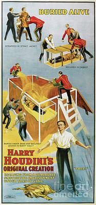 Houdini Buried Alive Art Print by Jon Neidert