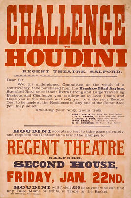 Houdini Challenge Art Print by David Wagner