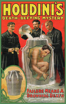Houdini Photograph - Houdini's Milk Can Death Defying Mystery by Jon Neidert