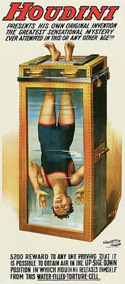 Houdini's Upsidedown Escape Art Print by Jon Neidert