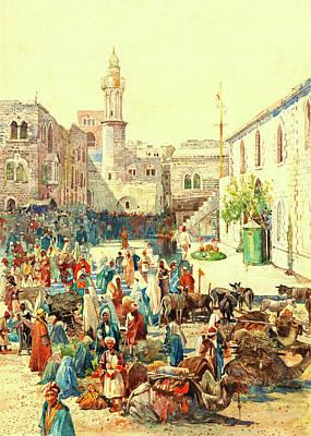 Painting - Houghton Bethlehem 1926 by Munir Alawi