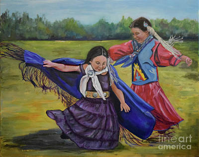 Painting - Houma Indian Dance by Sandra Nardone