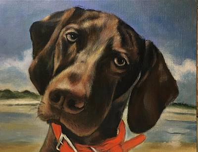 Painting - Hound by FayBecca Designs