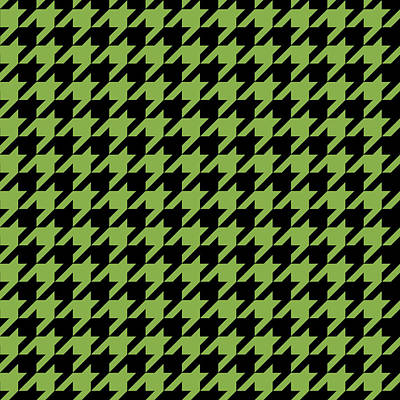 Pattern Digital Art - Houndstooth Design Done In Greenery And Black by David Smith