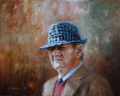 Bear Bryant Painting - Houndstooth by Dustin Curtis