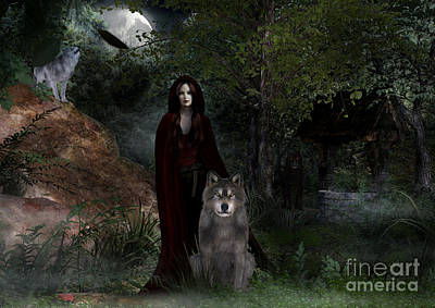 Digital Art - Hour Of The Wolf by Elle Arden Walby
