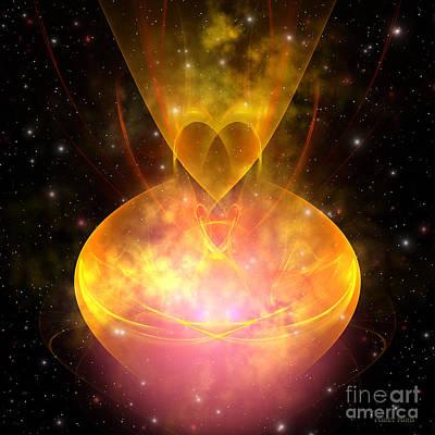 Hourglass Nebula Art Print by Corey Ford