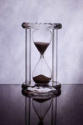 Glass Art Photograph - Hourglass - Time Slips Away by Tom Mc Nemar