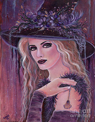 Hours Of Darkness Witch Original by Renee Lavoie