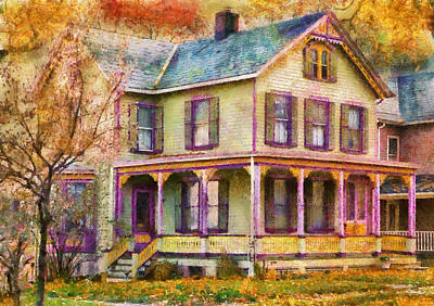 Photograph - House -  Clinton Nj - Grandma Had A Big Family by Mike Savad