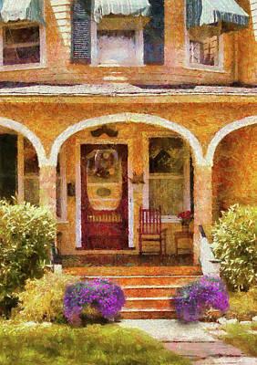 Photograph - House - Cranford Nj - Visiting Grandma by Mike Savad