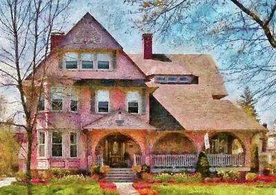Photograph - House - Pink Majestic by Mike Savad