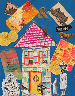 Mixed Media - House #1 by Dawn Boswell Burke