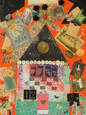 Mixed Media - House #2 by Dawn Boswell Burke