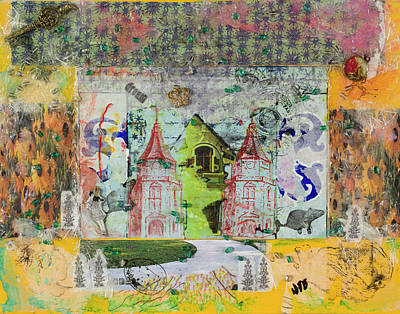 Mixed Media - House #4 by Dawn Boswell Burke