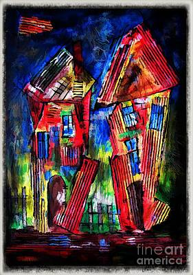 Digital Art - House 4406 by Marek Lutek