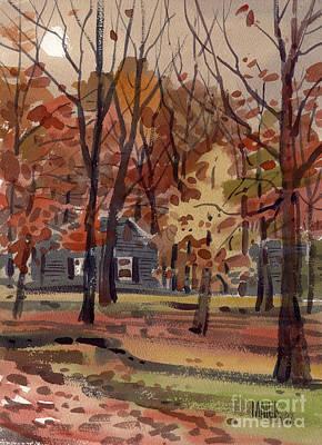 House Across The Creek Art Print by Donald Maier