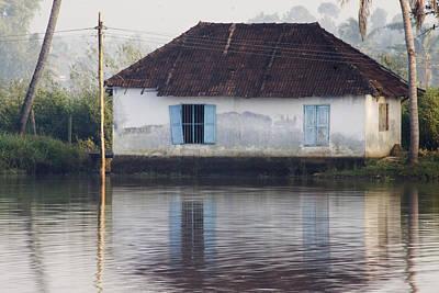 Kerala Photograph - House Along The Kerala Backwaters by Andrew Soundarajan